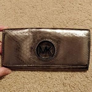 Michael Kors Gunmetal Wallet